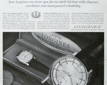 1963 Longines Watch Ad - All Proof Gand Prize Automatics - Longine Wittnauer Watch Company - 1960s Fashion Accessories - Vintage Jewelry Ad