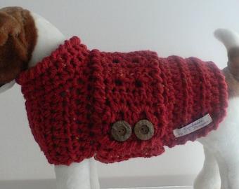 crochet dog sweater etsy. Black Bedroom Furniture Sets. Home Design Ideas