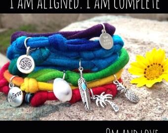 rainbow chakra wrist wrap
