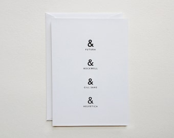 "sale - ampersand card - typography stationery - (5.82"" x 4.13"")"