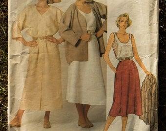 1980's Vogue Pattern #1377 American Designer Calvin Klein
