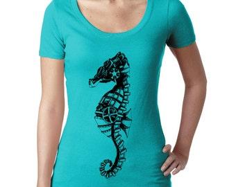 Women's Steampunk Seahorse Scoop 3530