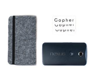 Galaxy S8 case, iPhone 7 Plus felt case, nexus cover, Galaxy S8 Plus wallet, iPhone 7 vegan case, Gopher