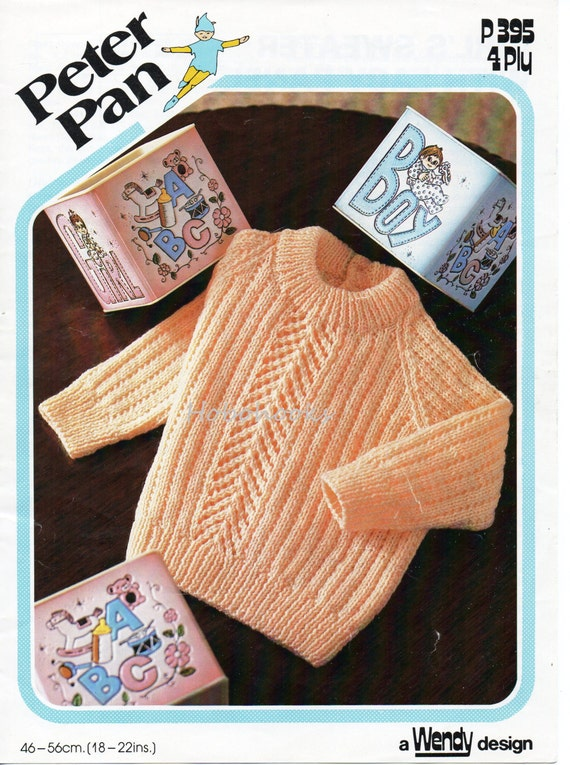 Knitting Pattern For Round Neck Jumper : Baby knitting pattern baby sweater baby jumper round neck