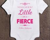 Baby Girl Onesie Little But Fierce Gift for Baby Girl New Born Girl Cute Baby Girl Onesies Funny Baby Onesies Baby Shower Gift Baby Gift