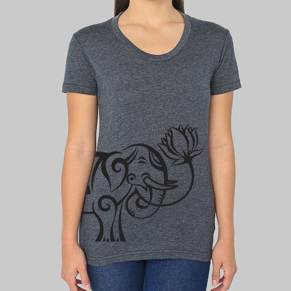 Womens elephant shirt junior clothing graphic by for Elephant t shirt women s