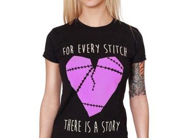 Every Stitch Tee / Broken Heart