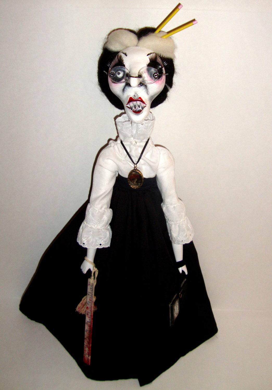 Handmade Gothic Harajuku Fashion W H Naoto Spiderweb Bag: OOAK Handmade Creepy Horror Gothic Steampunk Handmade Folk