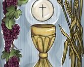 First Holy Communion Prayer Card