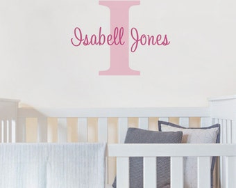 Personalized Monogram Name Lettering Decal
