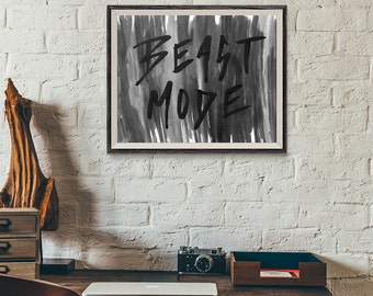BEAST MODE | Typographic Printable Art | Handwritten Type | Digital Print Download | 8 x 10