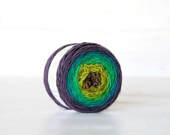 Hand Dyed Gradient Yarn - 100% Wool - Color: Vertigo Ombre - 1Ply Sport Yarn - Colorful Soft Yarns by Freia - Beautiful Wool Yarns - Sport