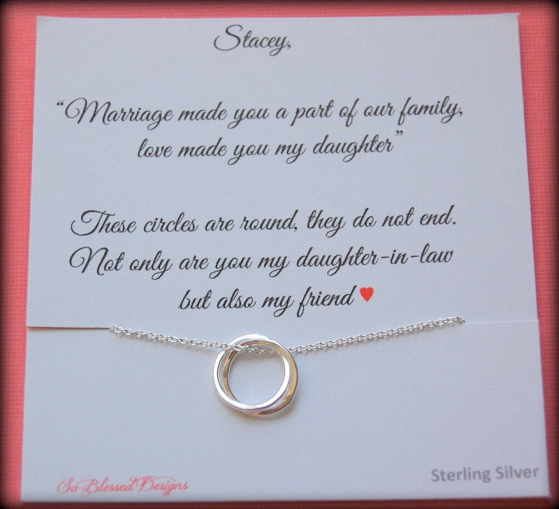 Wedding Gifts For Daughter And Son In Law : Gift for new daughter in law From mother in law daughter in