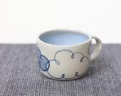 Cloud Unique Coffee Mug // Handpainted Ceramic Mug // Happy Cloud Tea Cup Housewarming Gift