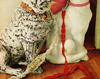 Macrame Dog and Cat Leashes Vintage Macrame Pattern Instant Download