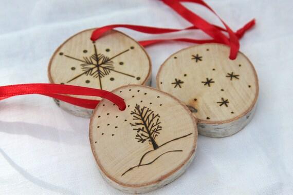 D coration de no l ornement arbre de no l rondelle bouleau for Decoration de noel exterieur avec bouleau