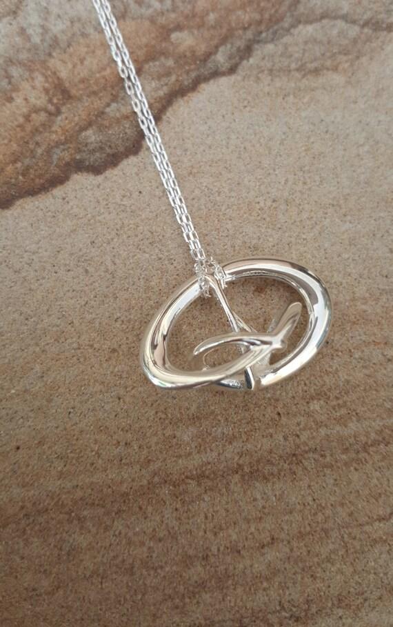 "3d Music Necklace - ""Triune"" - Original Sterling Silver Pendant - Fifth Octave Harmony - Techniflow Soundstill Series"