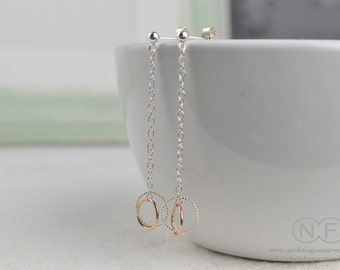 9ct Rose Gold and Sterling Silver Halo Earrings by Nicole Ferguson Jewellery