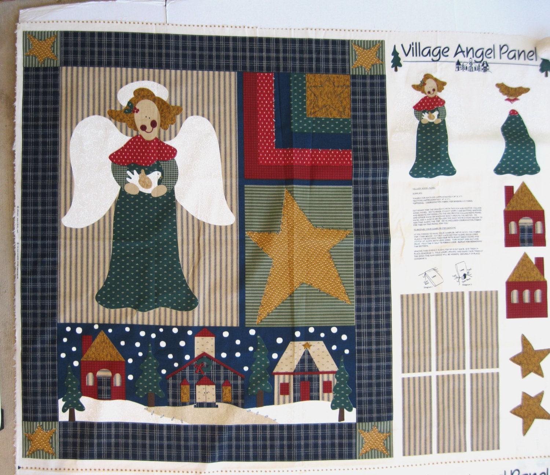 Christmas angel wall hanging cut and sew fabric panel folk