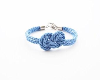 Will you be my bridesmaid bracelet -beach wedding favors - bridesmaid bracelet - nautical wedding gift - infinity knot bracelet - blue