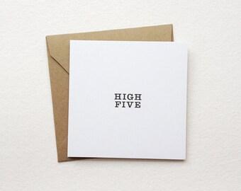 """high five - mini note card - (2.5"""" x 2.5"""")"""