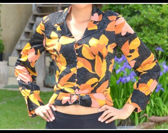 1970s Vintage lurex Blouse ~ Seventies ~ Made in Italy Blouse