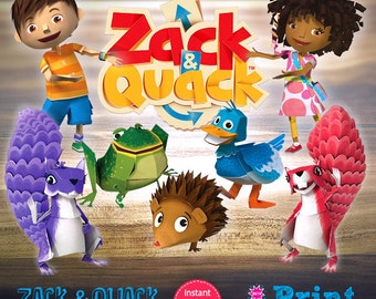 Zack and Quack digital cliparts for INSTANT DOWNLOAD!