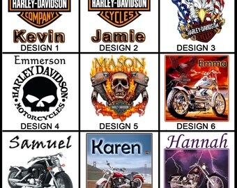 Personalised Harley Davidson Mug - Ceramic Coffee Mug - With any Name or Message - Gift Idea
