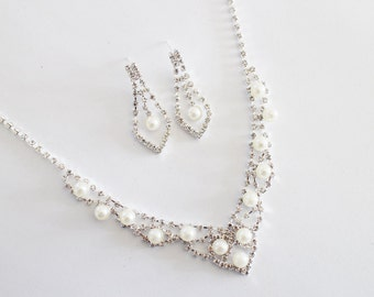 Graceful wedding jewelry Type C set, bridal jewelry set, Crystal Bridal Earrings, Wedding Jewelry Set, Bridal Necklace