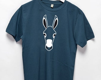 Donkey Burro Horse denim vintage T-Shirt {men}