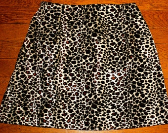 High-waisted Leopard Mini Skirt