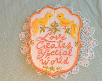 Love Creates a Special World Ceramic Wall Plaque