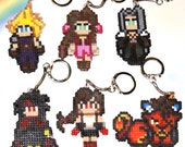 Final Fantasy 7 Pixel Keychain Collection - Cloud - Aerith - Sephiroth - Vincent - Tifa - Red XIII featured image