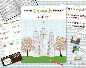 July {Come Follow Me} Why are Covenants important in my life? Teaching Package