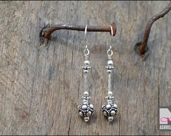 Sterling Silver Bali Bead Earrings (SER103)