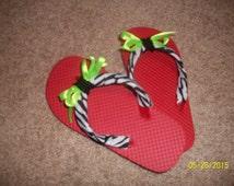 Girls' Flip Flops Size 11-12