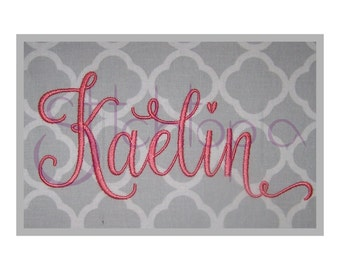 "Kaelin 1 Embroidery Font Set - 1"", 2"", 3"" - Machine Embroidery Fonts Script Embroidery Font BX Fonts PES 11 Formats - Instant Download Files"