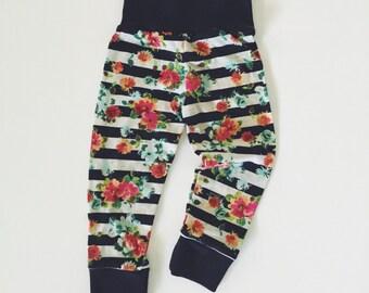 Striped Garden Slub Knit Baby/Toddler Leggings