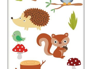 C021- Woodland Creature Stickers- 1