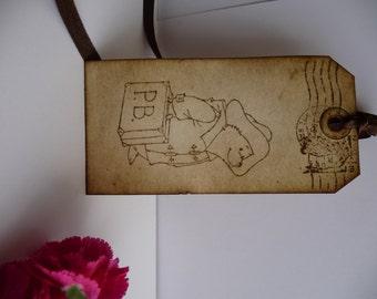 10 Handmade traditional teddy bear Bear luggage Gift tags