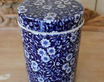 English Crownford China Calico Canister