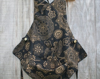 Black and Gold Cooking Apron
