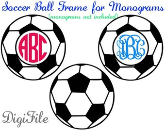 Soccer Frame for Monograms  SVG, DXF, EPS, for Cricut Design Space, Silhouette, Sure Cuts A Lot, Makes the Cut, Vinyl Cutters