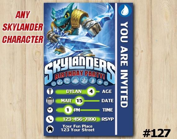 SKYLANDERS BIRTHDAY INVITATION Snapshot Skylander Invitation Trap Team Printable Custom Invite127