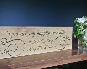 Custom Wooden Sign for Newlyweds