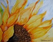 Sunflowers, sunflower watercolor, original watercolor