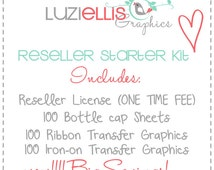 Reseller License Starter Pack for Luzi Ellis Graphics, digital license, resell, make money selling my images, one time fee.