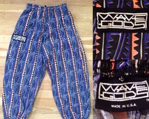 80's Retro Wave Gods Baggy Parachute Pants - Small - Made in the USA
