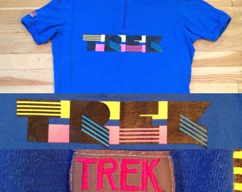 80's TREK Wear Cotton Cycling Jersey - L - Made in USA
