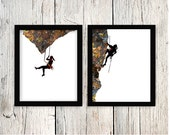 Mountaineering Print, Mountaineering Art, Rock Climber, Rock Climbing Art, Mountain Climbing, Climbing, Climber, Printable